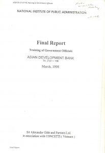 Final Report ADB - NIPA, Vietnam
